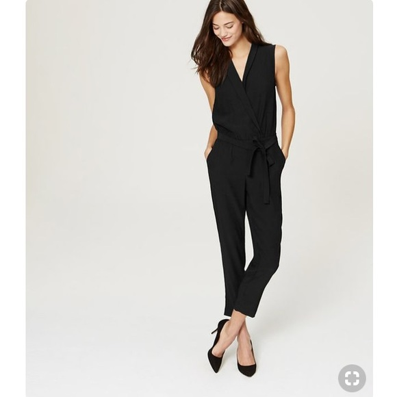 1b38fbd76dc LOFT Pants - LOFT Black Wrap Jumpsuit